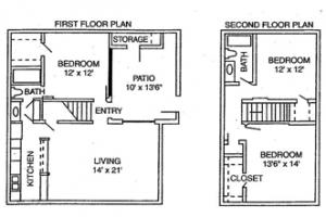 3 Bed / 2 Bath / 1,325 sq ft