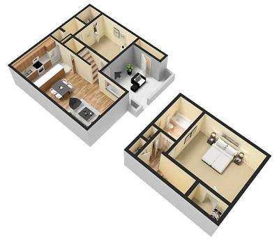2 Bed / 2 Bath / 1,166 sq ft