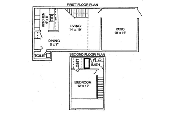 1 Bed / 1½ Bath / 738 sq ft